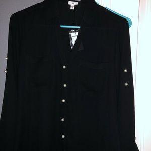 TAGS ON IT. Black Pearl Express Portifino Shirt XS
